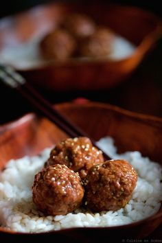 Boulettes de viande teriyaki Easy Teriyaki Sauce Recipe, Best Teriyaki Sauce, Teriyaki Meatballs, Asian Cooking, Easy Cooking, Cooking Recipes, Luxury Food, Man Food, Thermomix