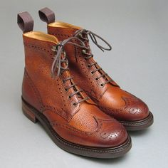 Ladies Cheaney Olivia R Country Boots in Mahogany Grain Leather - 270 Pounds