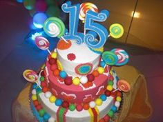 Quinceanera Cake  Lots of fun colors