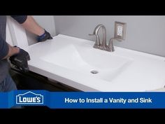 How to install a new vanity and sink