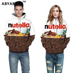 ABYABYGO Mens Brand Clothing Hoodies 3D Print Chocolate Harajuku Sweatshirts Pullover Hooded Plus Size Mens Tracksuit Streetwear
