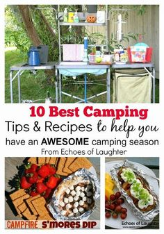 10 Great Camping Recipes & Tips To Get You Through Camping Season... - Echoes of Laughter. Fantastic organizing and food ideas, plus links to other tips and recipes!