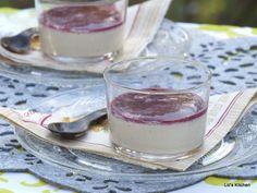 Panna Cotta Vanillée et coulis de framboise (crème végétale et agar agar)