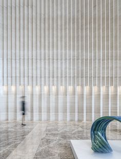 Office Entrance, Office Lobby, Stone Cladding, Wall Cladding, H Design, Wall Design, Lobby Interior, Interior Design, Yvoire