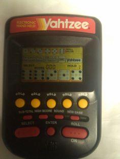 1995 Milton Bradley Yahtzee Electronic Hand-Held Game Black