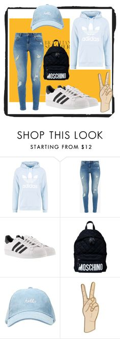 """""""Untitled #204"""" by fashion-style-tv ❤ liked on Polyvore featuring adidas Originals, Ted Baker, adidas, Moschino and Lucky Brand"""