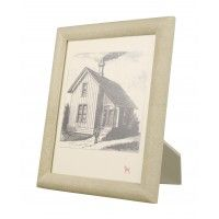 OXFORD TURQUOISE FAUX SHAGREEN 5X7 FRAME