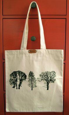 Drzewa - torba z grubego płótna bawełnianego