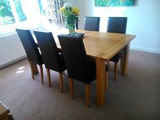 Marks And Spencer Sonoma Extending Dining Table 6 Leather Look Chairs Extendable