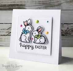 Designs by Simone | Easter Card Week: Day 3 – Happy Bunnies