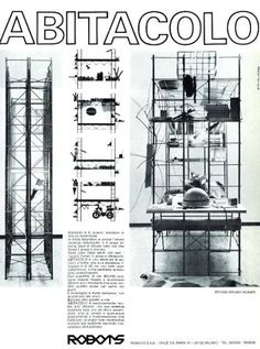 Abitacolo: Bruno Munari's Kid Space Machine - Petit & Small Futurism Art, Loft Bunk Beds, Scaffolding, Technical Drawing, Kid Spaces, Designs To Draw, Installation Art, Book Design, Comme