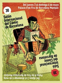 XXX International Comic Salon - Barcelona, June to 2012 Comic Poster, Comic Art, Jean Giraud Moebius, Craig Thompson, Barcelona, Superman, Graphic Art, Humor, Festival Posters