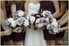 Bridemaids Bouquet #Lilac #Ivory #Chicago #Wedding @LK Events Chicago Photo by @Husar Photography