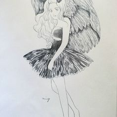 2016.11.11 久々描いた鳥は羽根。  中学の時、鳥の羽描くのにはまって、描いてた時期が有りました。  今回の書き込みは結構描いたよ。 描き込み系は描き出すと楽しくて嵌まるよなぁ。  #イラスト #鉛筆 #鉛筆画 #漫画 #マンガ #女の子 #落書き #おえかき #お絵描き #絵 #一日一絵 #girl #pencil #illustration #illust #drawing #sketch
