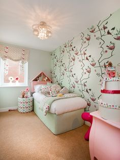 Barratt S Show Home At Vickers Green Crayford Single Bedroom In Pink Designed By Claude Hooper Interiors