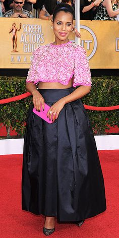 """Kerry Washington's Polished & Pretty Bump Style 