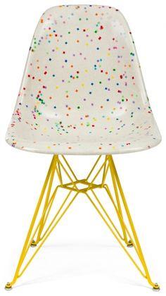 Fiberglass Shell Chair - Confetti Chair - Side Shell Eiffel Base DSR - Modernica