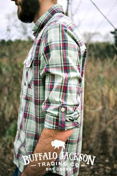 This men's casual button down shirt is perfect for cool summer nights. Easily dress it up or down, whatever your style.