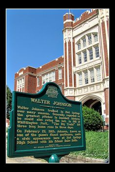 Stop number 19 on Hot Springs' Baseball Trail is dedicated to baseball great Walter Johnson.