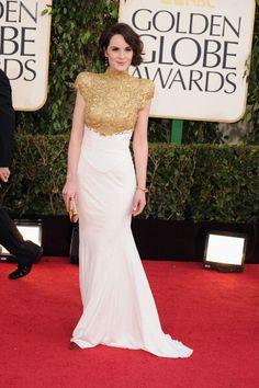 Michelle Dockery in Alexandre Vauthier - Golden Globes 2013
