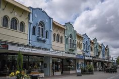 Street Scene in New Regent Street Christchurch New Zealand
