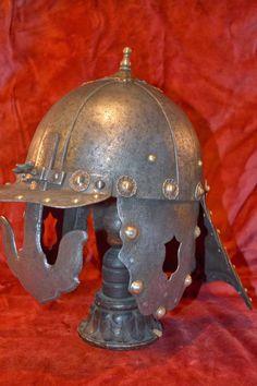 Płatnerstwo Robert Stefanowski: szyszak husarski Horse Armor, Riding Helmets, Hats, Hat