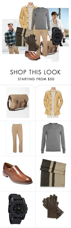 Practical trench by maria-kuroshchepova on Polyvore featuring Nixon, Cole Haan, Gilded Age, Ralph Lauren, John W. Nordstrom, Gap, Topman, J.Crew, women's clothing and women's fashion