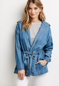 Life in Progress Chambray Utility Jacket | Forever 21 - 2052288222