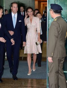 Picture shows Duke and Duchess of Cambridge arriving at Changi Airport in Singapore, as part of their Diamond Jubilee Tour of South East Asia. 9-11-2012