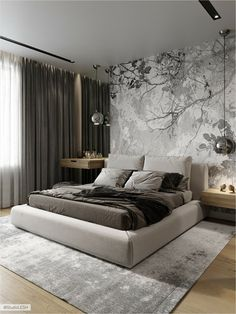 40 Perfect Bedroom Design Ideas That Inspire You - 40 Perfect Sleep . - 40 Perfect Bedroom Design Ideas That Inspire You – 40 Perfect Bedroom Design Ideas That Inspire Y - Luxury Bedroom Design, Home Room Design, Master Bedroom Design, Home Decor Bedroom, Interior Design, Bedroom Ideas, Bedroom Designs, Master Suite, Studio Apartment Design