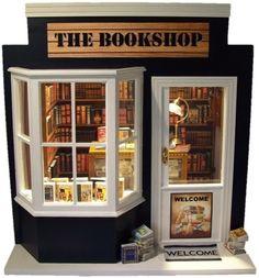 The Bookshop Vitrine Miniature, Miniature Dolls, Miniature Houses, Mini  Houses, Dolls House 85ca5a63a4