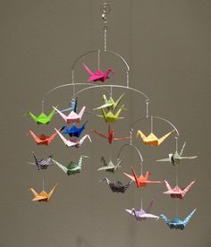 Beautiful Origami Crane Mobile by NancysBalancingAct on Etsy