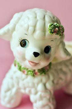 Vintage 50s Kitschy Collectible Lefton Lamb from MonikaJayVintage, etsy