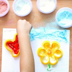 Use stencils to create scented scratch and sniff art for kids. Try it when your learning about the Five Senses or just for fun!