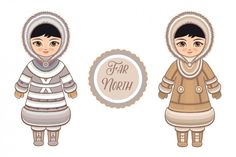 Far North. Eskimo By Zoya Miller the Far North. Eskimo By Zoya Miller Custom Invitations, Baby Shower Invitations, Army Wallpaper, Historical Clothing, Graphic Illustration, Vector Illustrations, Textures Patterns, Vintage Posters, Logo Design