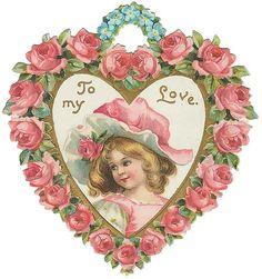 Victorian Valentine's Day Card https://www.pinterest.com/pin/197454764884814733/