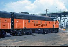 RailPictures.Net Photo: MILW 83A Milwaukee Road EMD F7(A) at Milwaukee, Wisconsin by Tom Farence