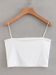 Color: White Composition: Polyester, Cotton Style: Casual, Basics Pattern Type: Plain Bust (cm): S: cm, M: cm Length (cm): S: 23 cm, M: 24 cm Neckline: Spaghetti Strap Fabric: Fabric is very stretchy Type: Cami Length: Crop Fit Type: Slim Fit Cami Tops, Cute Crop Tops, Cami Crop Top, White Crop Top Tank, Grunge Look, 90s Grunge, Crop Tops Blancos, Crop Top Outfits, Cute Outfits