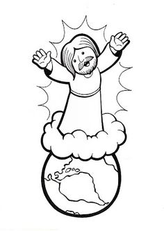 Revelation Jesus Christ Will Return-Jesus Returns Coloring Page Bible Story Crafts, Bible School Crafts, Sunday School Crafts, Lds Coloring Pages, Book Of Mormon Stories, Catholic Religious Education, Pictures Of Jesus Christ, Jesus Return, Bible Games