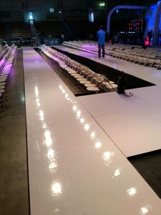 The runway setup!