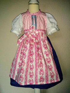 Das Kleid ist aus Baumwolle und liebevoll handgefertigt. Es wird vorne mit Druckknöpfen...,Kinder-Dirndl Gr. 86neu in Nordrhein-Westfalen - Jülich
