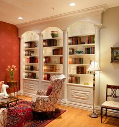 lighting!  Custom Made Library by Allgyer Fine Custom Cabinetry on CustomMade.com