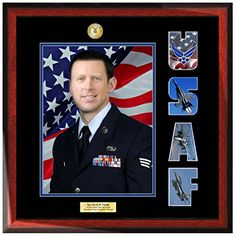 Personalized Wood Satin Rich Mahogany USAF Emblem 8 X 10 Engraved Portrait Photo with Military Officer Collage Letter Wall Picture Plaque Top Mat Black Inner matting Blue Award Officer School Frame as Military Gifts Retirement Present and Soldier Promotion Retired Product MF1 *** Want additional info? Click on the image.