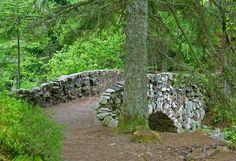 Old Stone Bridge near Braur Falls, Scotland