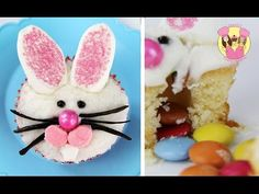 EASTER BUNNY PINATA CUPCAKE with a surprise inside - how to baking DIY by charliscraftykitchen - YouTube