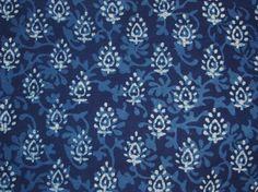 Indigo fabric Batik Organic Cotton Hand block by FabricTreasury, $4.75
