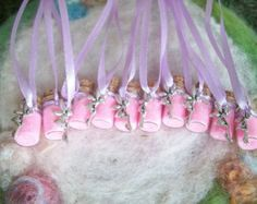 Collar de Pixie favores de partido, bellota verde hada polvo/Gnome partido, pequeño regalo, Premio de la rifa, chispa mágica, secoya árbol hadas