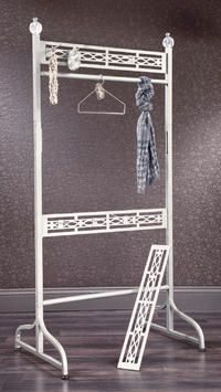 tripar.com  Versattach Adjustable Garment Rack  This adjustable garment rack has endless display opportunities! Two sided with removable bottom three borders you are able to display clothing, scarves, jewelry, purses and many other accessories. And don't forget, ANY of the Versattach attachments for hats, scarves and jewelry work perfectly to help you get the look you want. Attachments sold separately.