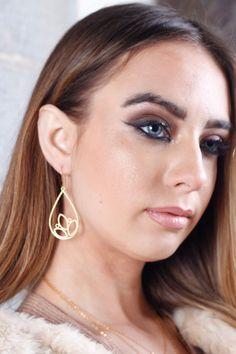 Gold EarringsDangle EarringsLong EarringsSimple by lilabelledesign
