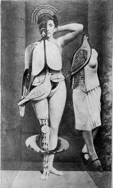 Santa conversazione (Holy Conversation) by Max Ernst, 1921. Photograph of a collage, 22.5 x 13.5 cm.
